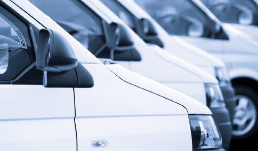 fleet-of-white-vans-lined-up