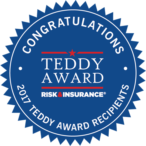 2017 Risk & Insurance Teddy Award seal