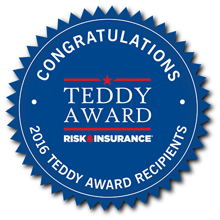 2016 Risk & Insurance Teddy Award     seal