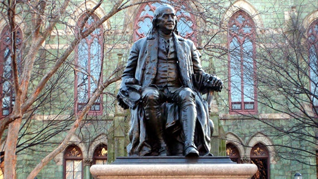 ben-franklin-university-of-penn-statue